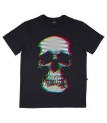 camiseta alkary caveira cromia preta
