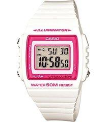 reloj -- casio modelo w_215h_7a2v blanco