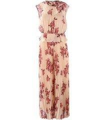 cap sleeve floral jumpsuit