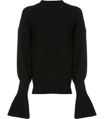 alexander wang mock neck pullover - black