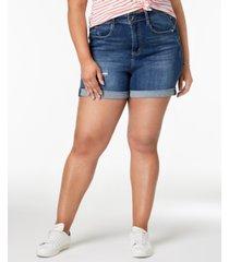 seven7 trendy plus size denim shorts
