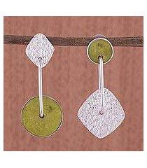 serpentine dangle earrings, 'opposites attract' (peru)
