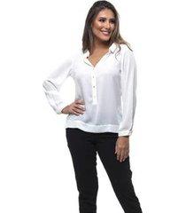 blusa clara arruda abertura frontal feminina