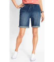 comfort stretch jeans short met comfortband in bermudalengte