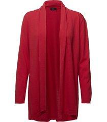 ladies knit cardigan, villis gebreide trui cardigan rood nanso