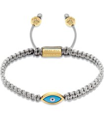 nialaya jewelry evil eye braided bracelet - grey
