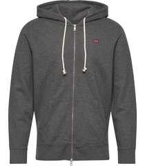 new original zip up charcoal h hoodie trui grijs levi´s men