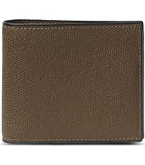 leather bifold wallet - brown