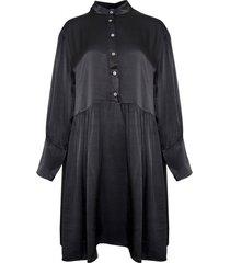 tiffany tiffany kort satin klänning 191362 mörkgrått