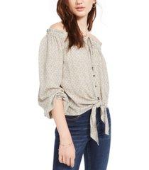 hippie rose juniors' off-the-shoulder blouse