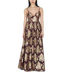 dear moon juniors' brocade chiffon gown