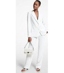 mk pantalone a righe - bianco/nero (bianco) - michael kors