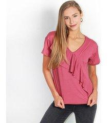 camiseta para mujer en poliester color-rosa-mag-talla-m