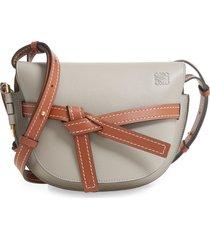 loewe gate small leather crossbody bag - grey