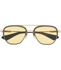 dita eyewear pilot shaped sunglasses - gold