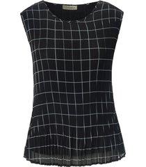 mouwloze blouse ronde hals van uta raasch zwart