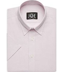 joe joseph abboud repreve® rose diamond short sleeve slim fit dress shirt