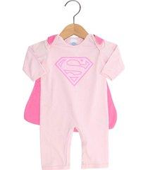 pijama get baby super homem menina rosa - rosa - menina - dafiti