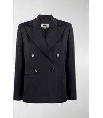 mm6 maison margiela double-breasted blazer