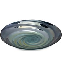 imax moody swirl glass charger
