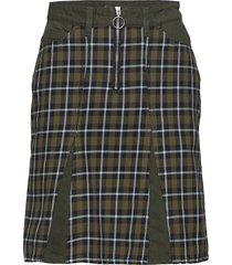 bridget skirt aw18 kort kjol grön holzweiler