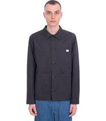 a.p.c. nathanael casual jacket in black polyamide
