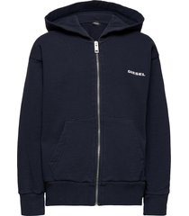 sbean over sweat-shirt hoodie trui blauw diesel