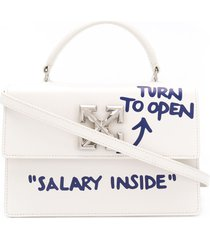 off-white jitney 1.4 quote tote - neutrals