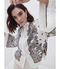motivi camicia fantasia foulard donna bianco