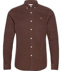 fontella corduroy slim fit shirt skjorta casual brun farah