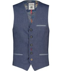 a fish named fred 20.01.1 gilet blue denimlook navy blue - blauw