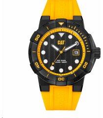 reloj amarillo cat shockmaster diver