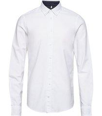 bhnail shirt slim fit skjorta business vit blend
