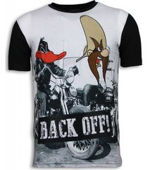 back off - digital rhinestone t-shirt