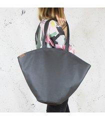 shelly bag grafitowa torba codzienna na zamek