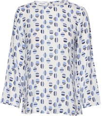 blouse long-sleeve blus långärmad blå gerry weber edition
