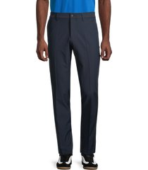 j. lindeberg men's classic-fit flat-front pants - navy - size 34 32