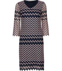 dress short 3/4 sleeve jurk knielengte blauw betty barclay