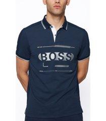 boss men's cotton-blend regular-fit polo