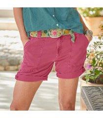 sundance catalog women's organia shorts - petites in rose petite 10