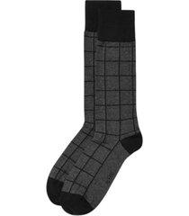 alfatech by alfani men's windowpane-plaid dress socks, created for macy's