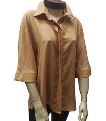 camisa camel zaf con table espalda