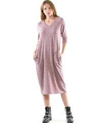 vestido lanilla palo rosa bous