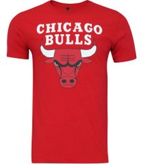 camiseta nba chicago bulls big logo - masculina - vermelho