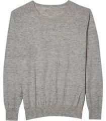 blusa dudalina manga longa tricot flamê masculina (branco, gg)