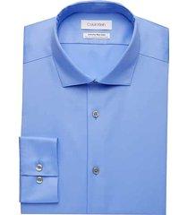 calvin klein men's infinite non-iron light blue slim fit stretch dress shirt - size: 16 1/2 32/33