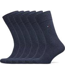 th men sock 6p ecom underwear socks regular socks blå tommy hilfiger