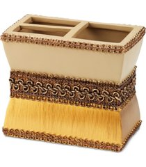 avanti braided medallion toothbrush holder bedding
