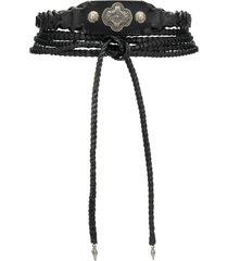 etro braided wrap around belt - black