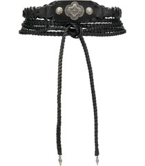 etro braided wrap around belt - black